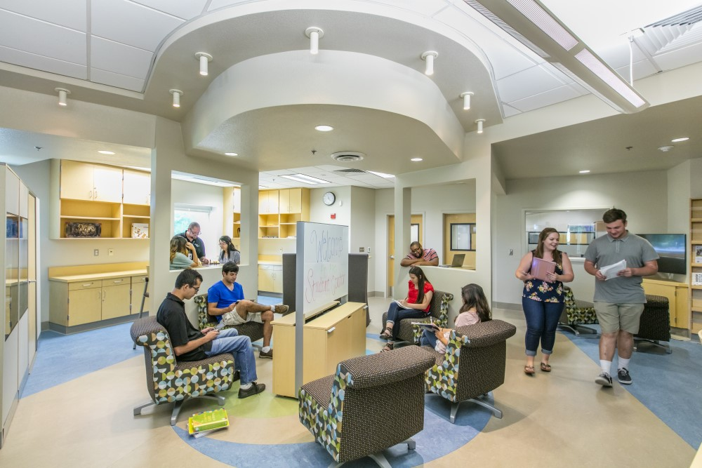 students in lounge at Clovis