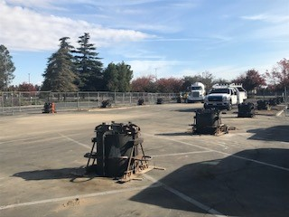 Cement poured for solar foundation at Fresno City College
