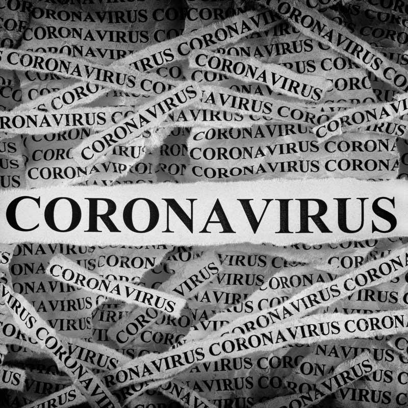 Coronavirus newsprint